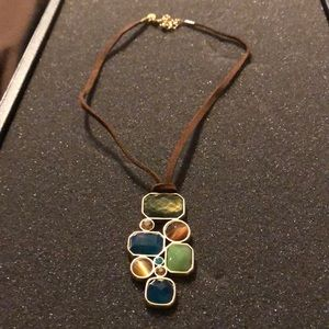 Lia Sophia blue stone necklace.
